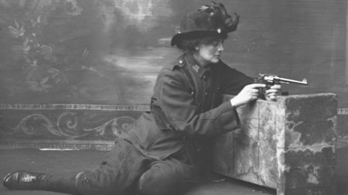 "Constance ""Countess"" Markievicz . (Credit: National Library of Ireland on The Commons/Public Domain)"