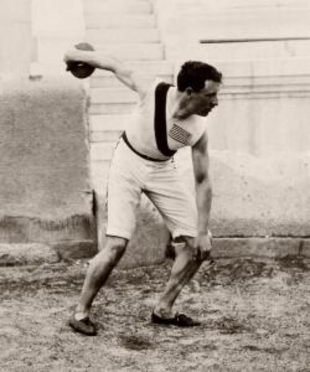 The Olympic champion in the discus, Robert Garrett. (Credit: Public Domain)