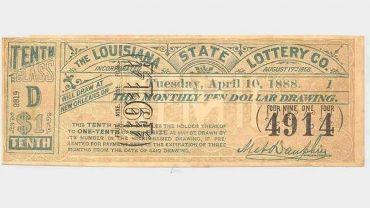 Tickets from the Louisiana State Lottery Company. (Credit: Public Domain)