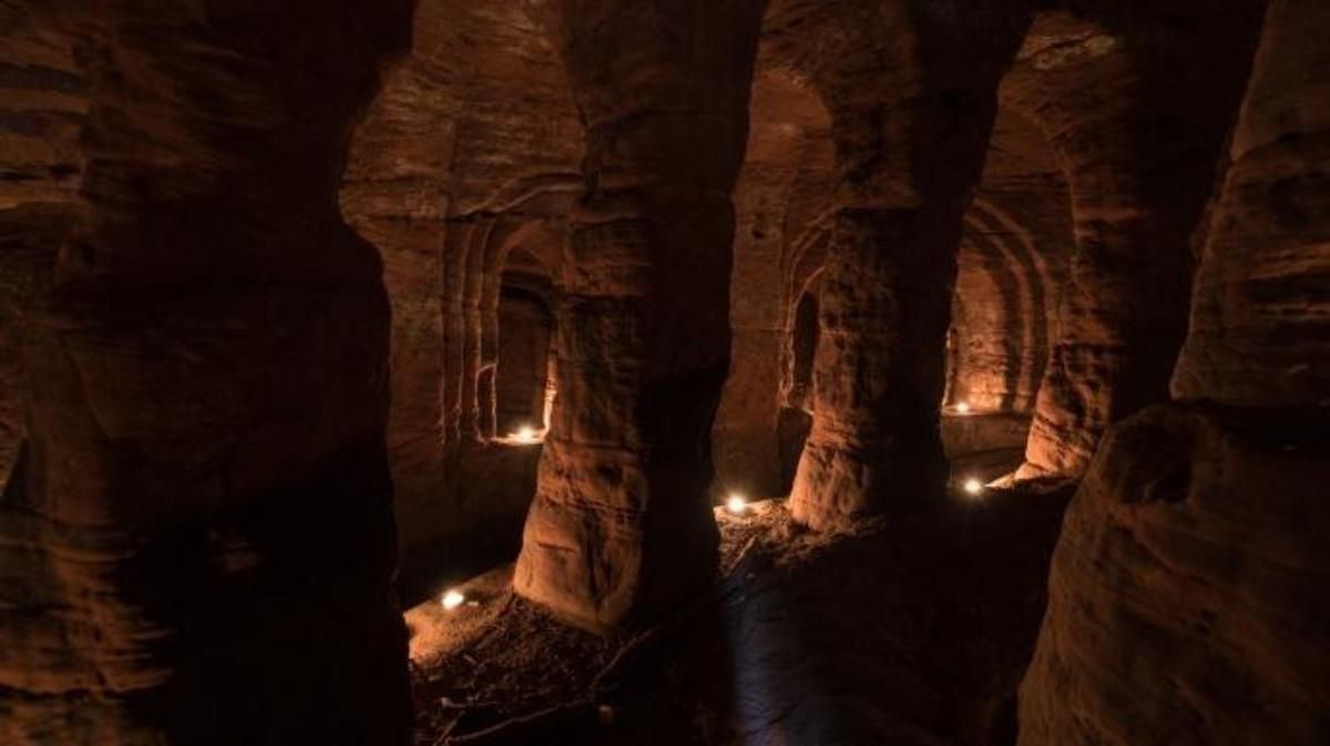 The cave interior. (Credit: Michael Scott/ Caters News)