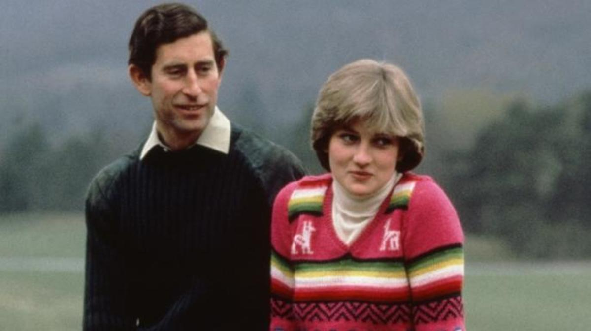 Charles and Diana meet the press at Balmoral in May 1981, weeks before their wedding.