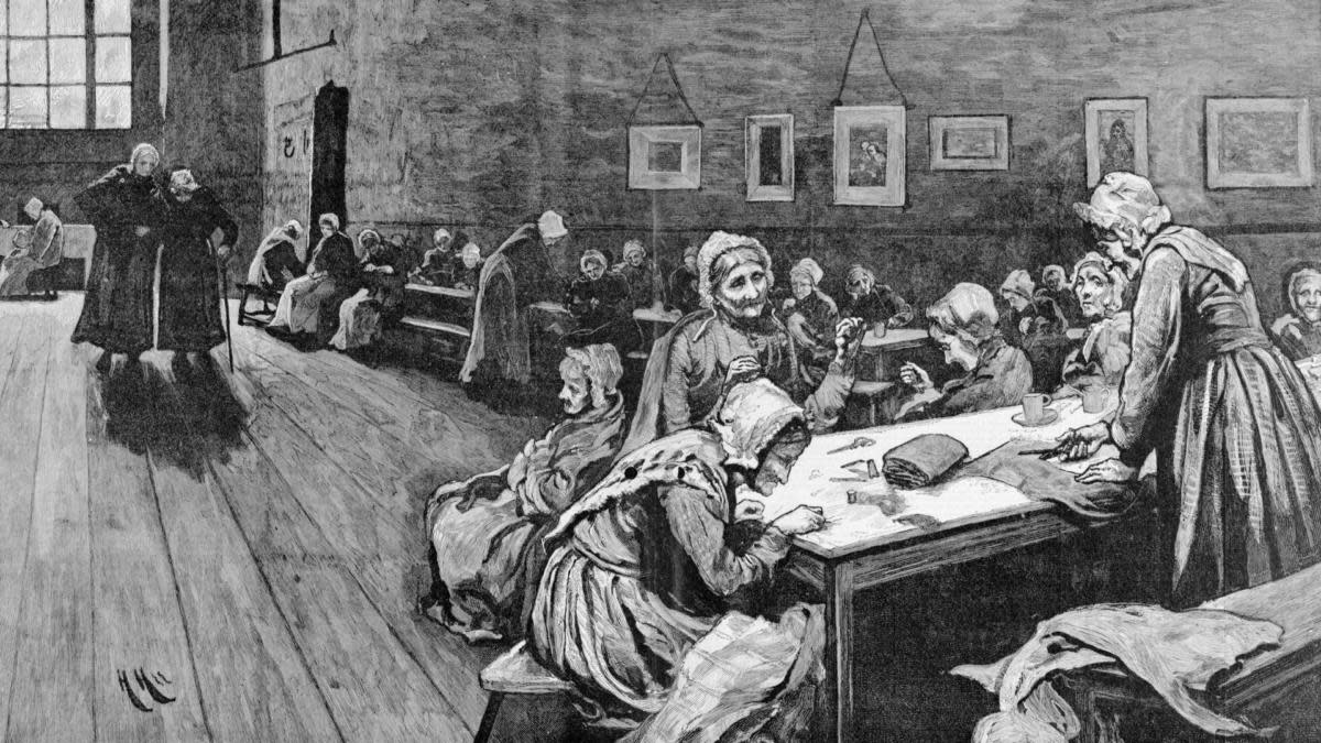 A London workhouse. (Credit: Corbis via Getty Images)