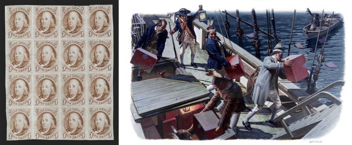 1847 Ben Franklin Stamps Courtesy Of Siegel Auction Gallery The Boston Tea Party
