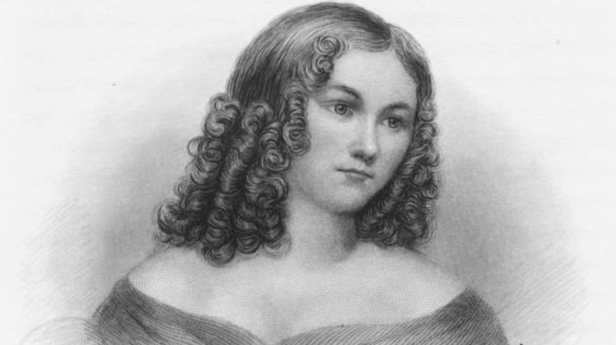 Engraved portrait of Priscilla Cooper Tyler, circa 1843. Original artwork by H B Hall. (Credit: Archive Photos/Getty Images)