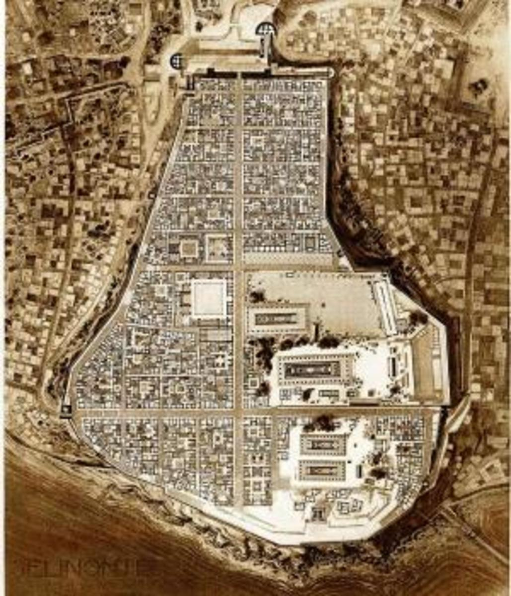 Ancient plan of Selinunte.