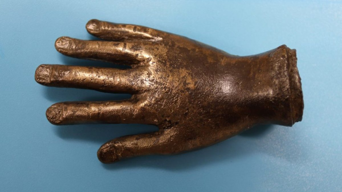 Bronze hand discovered