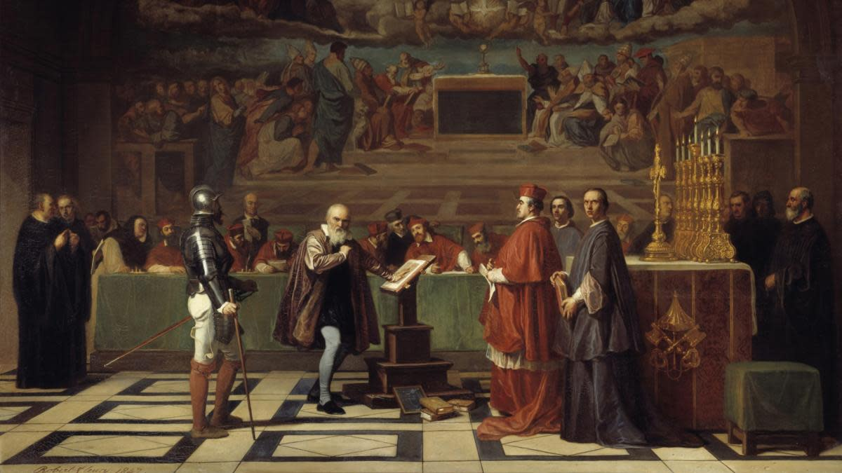 Galileo's trial at the Vatican