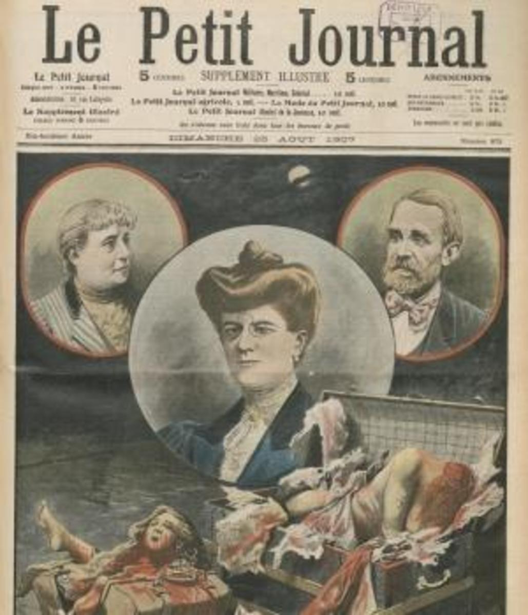 Cover of French Journal Le Petit Journal, No. 875 from August 25, 1907, about the murder case around Vere St. Leger Goold, Irish tennis player. Goold was later convicted of murder and sent to Devil's Island, French Guyana. (Credit: Bibliothèque Nationale de France)
