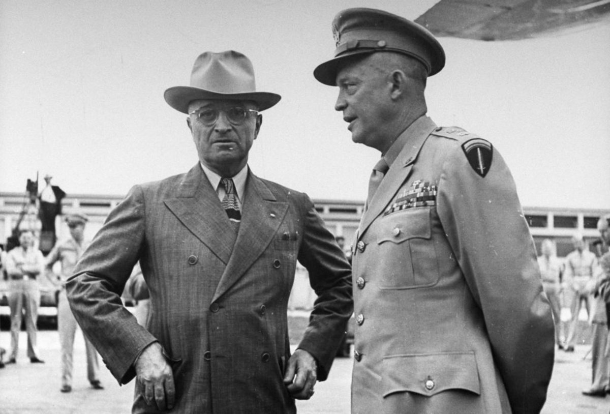 Harry Truman and Dwight Eisenhower