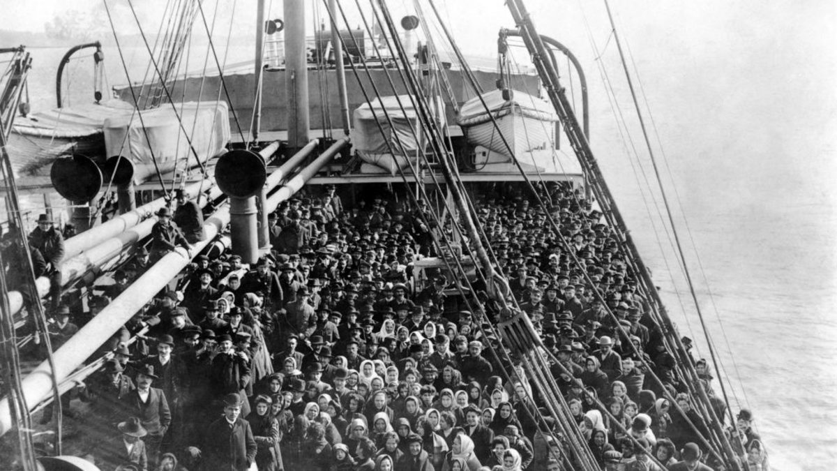 Ship of Immigrants to Ellis Island