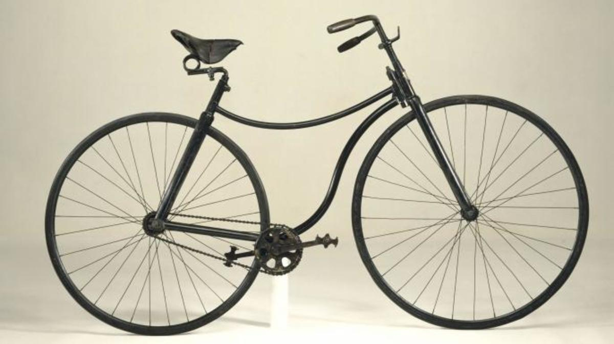 The design of the present-day bicycle has remained much the same since John Kemp Starley (1854-1901) designed this Rover safety bicycle, the first embodiment of the modern vehicle. It got its name because it was much lower and more stable than the ordinary bicycle. (Credit: SSPL/Getty Images)