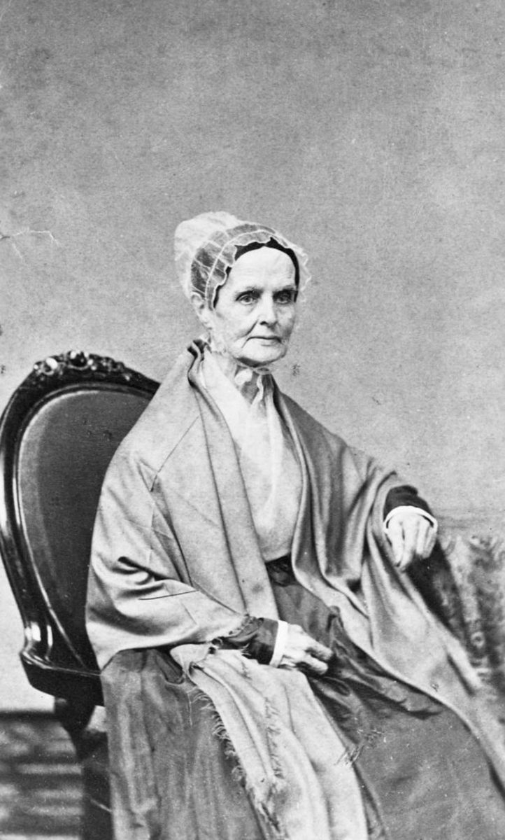 Portrait of Lucretia Mott (1793-1880), leader of women's-rights and anti-slavery movements. With Elizabeth Cady Stanton, she called a women's-rights convention at Seneca Falls, New York in 1848. (Photo by © CORBIS/Corbis via Getty Images)