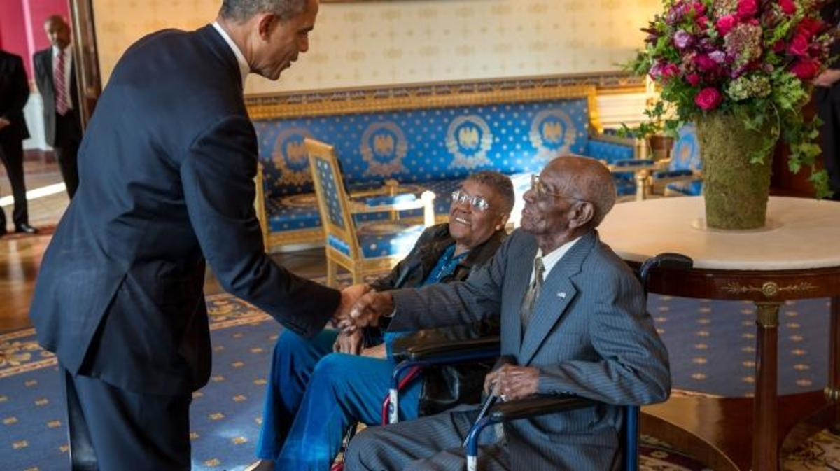 President Obama and Richard Overton