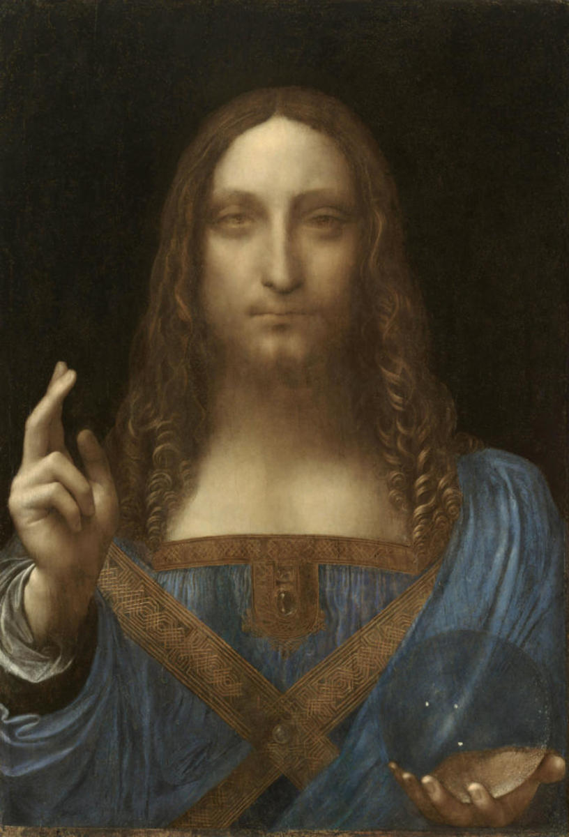 Salvator Mundi by Leonardo da Vinci. (Credit: VCG Wilson/Corbis via Getty Images)