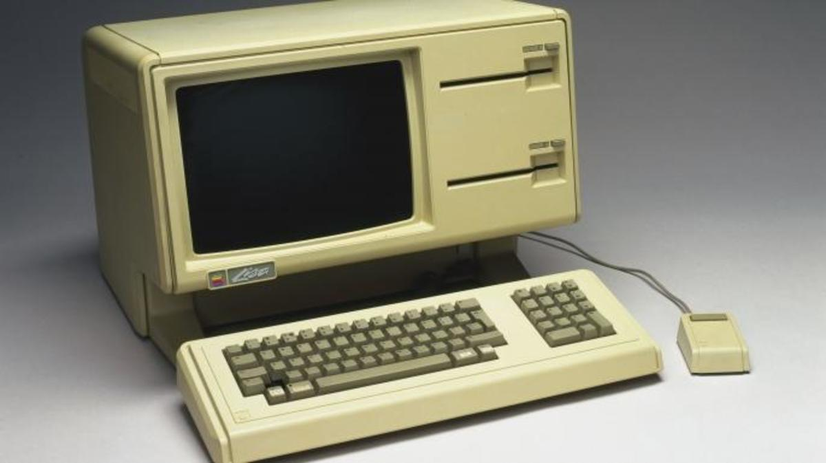 Apple's Lisa was the first computer to use a Graphical User Interface (GUI). Incorporating the powerful Motorola 68000 processor, and a mouse and pull-down menus, Lisa was intended by Apple's founder, Steve Jobs, to set the technological standard and become the market leader in personal computers.  (Credit: SSPL/Getty Images)