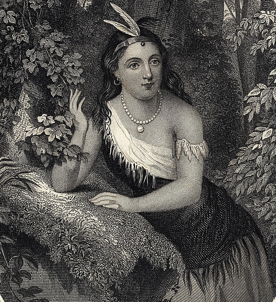 Pocahontas, daughter of Chief Powhatan of Powhatan Indians of Virginia. (Credit: Bettmann Archive/Getty Images)