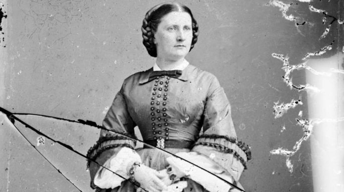 Harriet Lane, niece of  James Buchanan; acted as First Lady during his term as President. (Credit: Everett Collection Inc/Alamy Stock Photo)