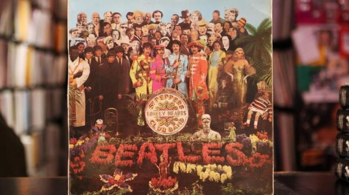 """A vinyl LP for """"Sgt. Pepper's Lonely Hearts Club Band"""" by The Beatles,"""