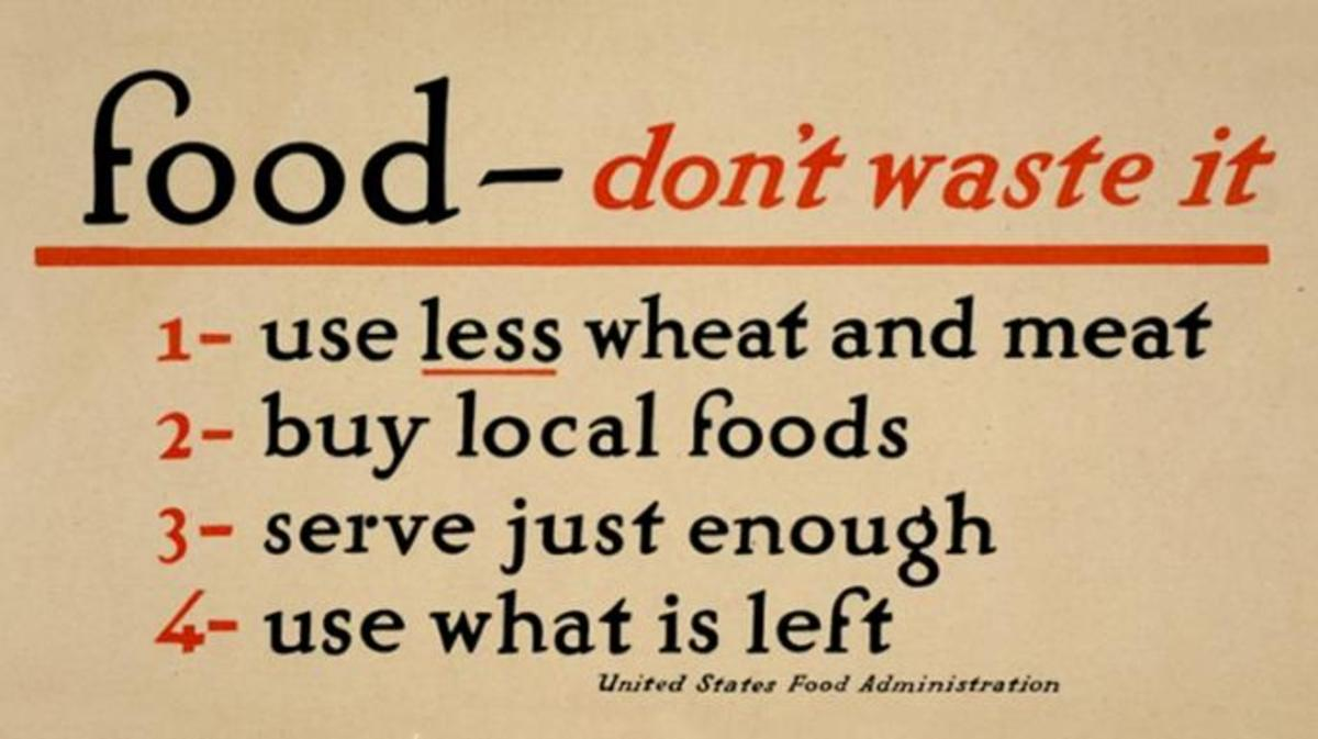A U.S. Food Administration poster during World War I. (Credit: The Library of Congress)