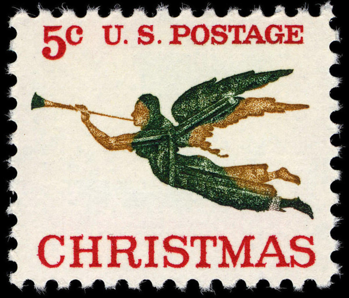 1965 Christmas stamp. (Credit:Public Domain)