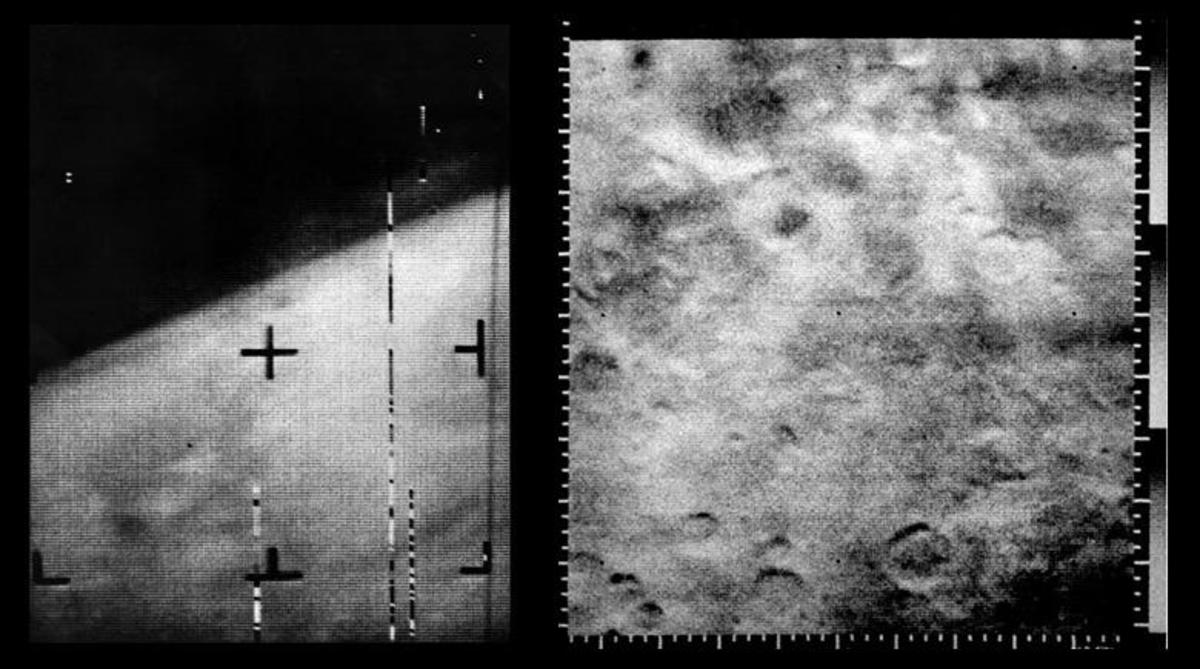 The first images of Mars from NASA's Mariner 4. (Credit: NASA)