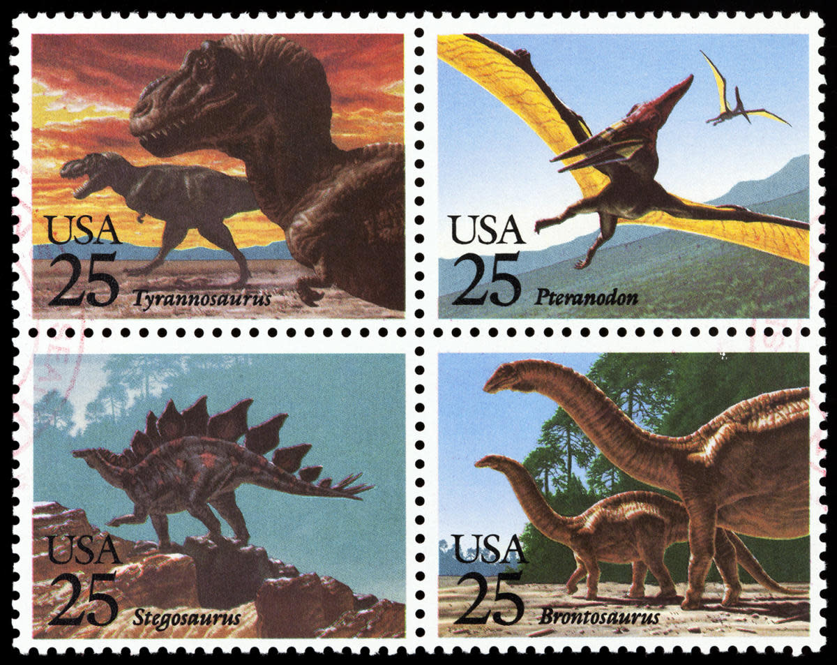 1989 Dinosaur Stamps Credit SunChan Getty Images