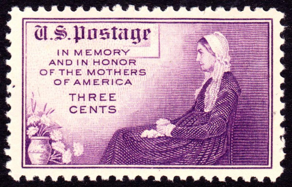 1934 Whistlers Mother Stamp Credit Public Domain