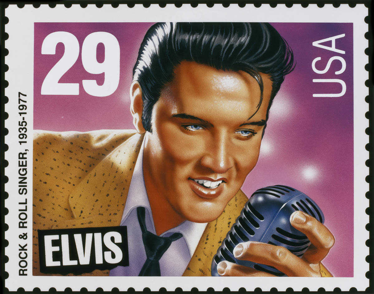 1993 Elvis stamp. (Credit: Chris Farina/Corbis/Getty Images)