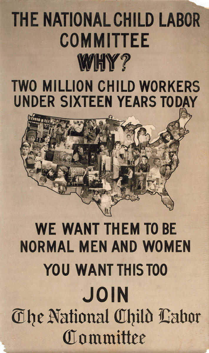 Poster for the National Child Labor Committee, circa 1913. (Credit: Universal History Archive / UIG / Getty Images)