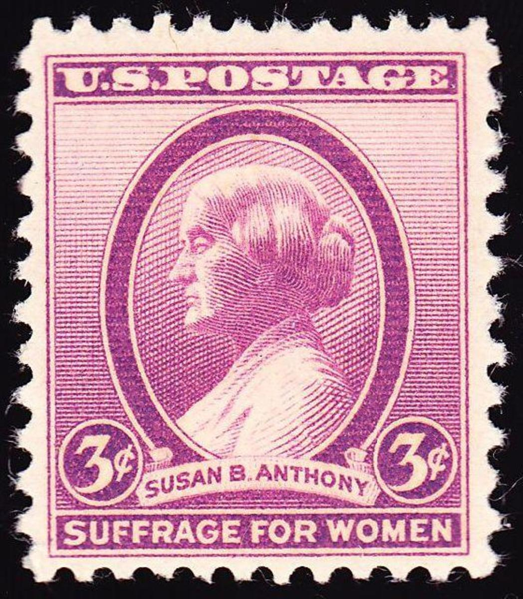 1936 Susan B. Anthony stamp. (Credit:Public Domain)