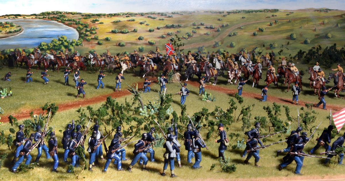 Diorama depiction of the Battle of Palmito Ranch. (Credit: Texas Military Forces Museum, Camp Mabry, Austin, Texas)