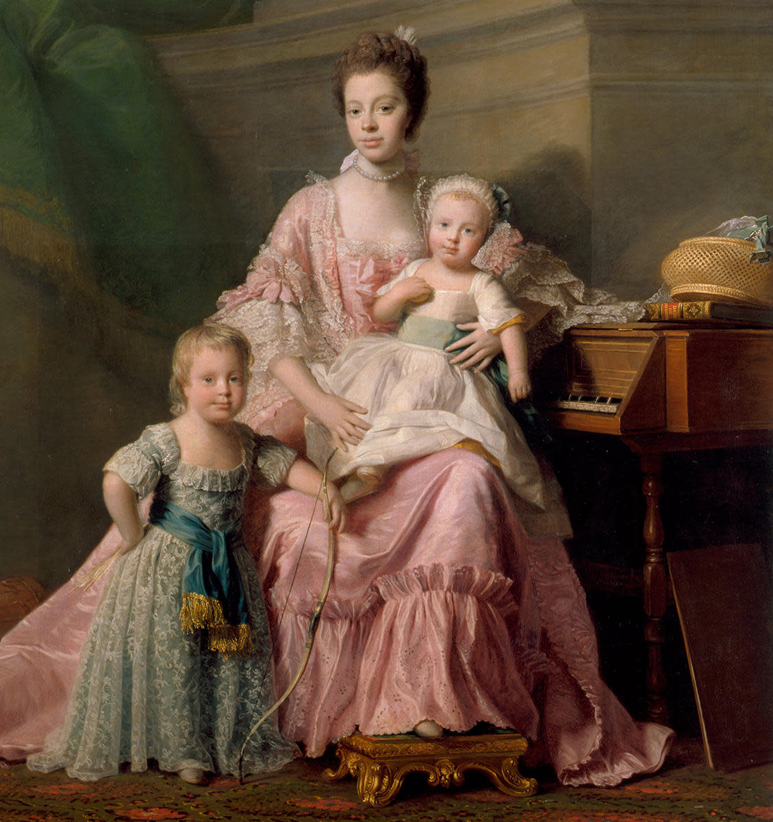 Queen Charlotte with two of her sons. (Credit: Fine Art Images/Heritage Images/Getty Images)