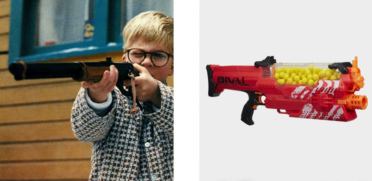 Red Ryder BB gun and Nerf's Rival Nemesis