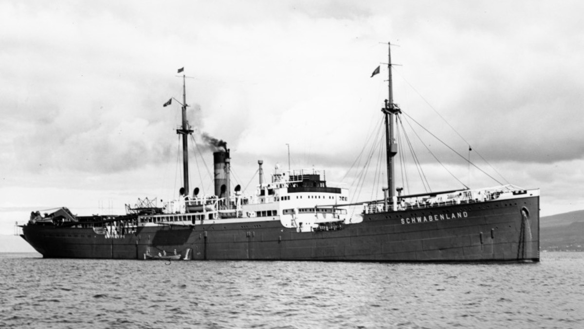 The Schwabenland, the ship of the 1938 German Antarctic expedition. (Credit: Institute of Regional Geography, Leipzig, Ritscher)