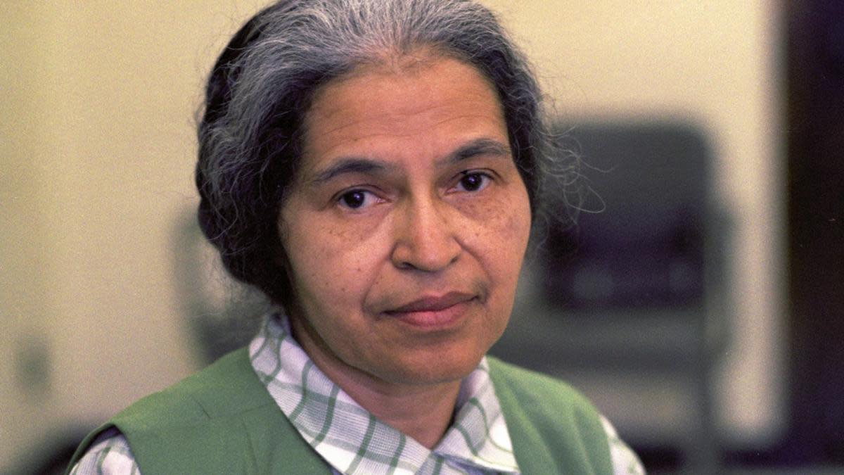 Rosa Parks in Detroit, May 1971. (Credit: AP Photo)