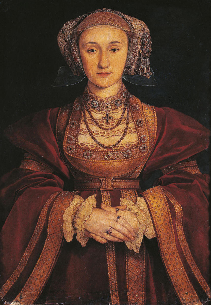 Portrait of Anne of Cleves, by Hans Holbein. (Credit: De Agostini/UIG/Everett)