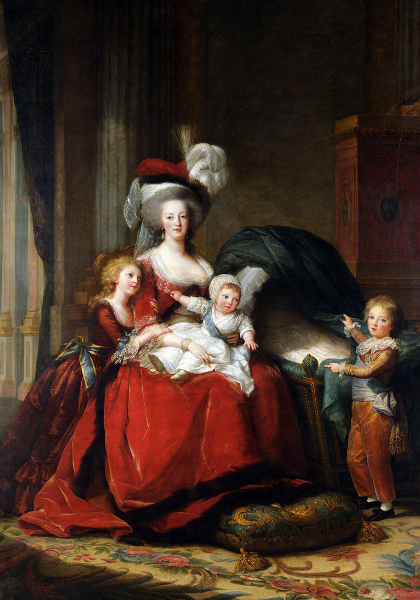 Marie-Antoinette, Queen of France with her children, by Elisabeth Vigee Le Brun. (Credit: Photo12/UIG via Getty Images)