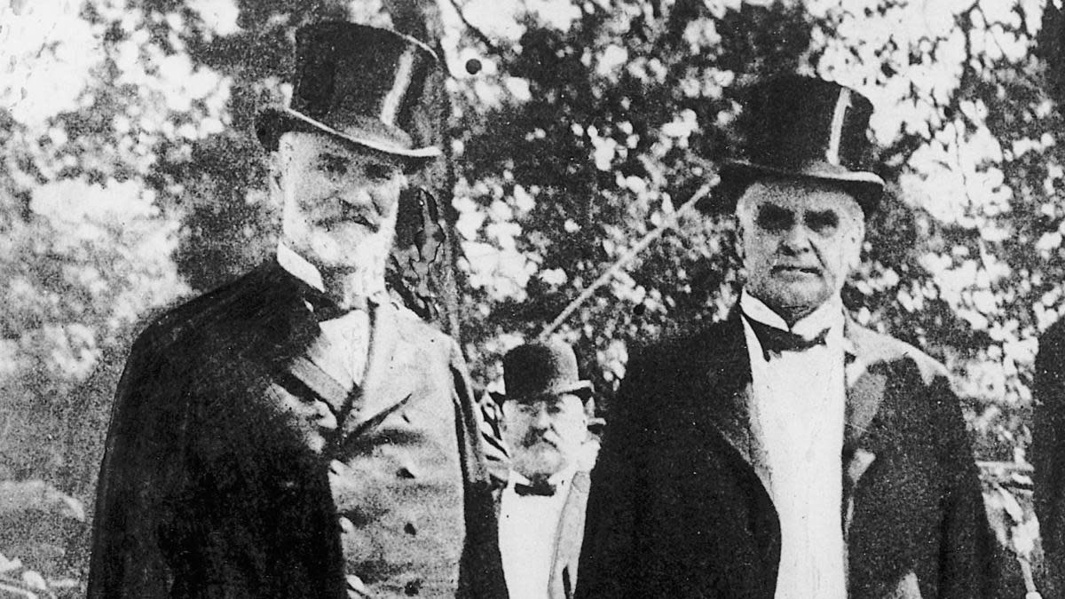 James Wilson, Secretary of Agriculture, with President William McKinley, 1901.