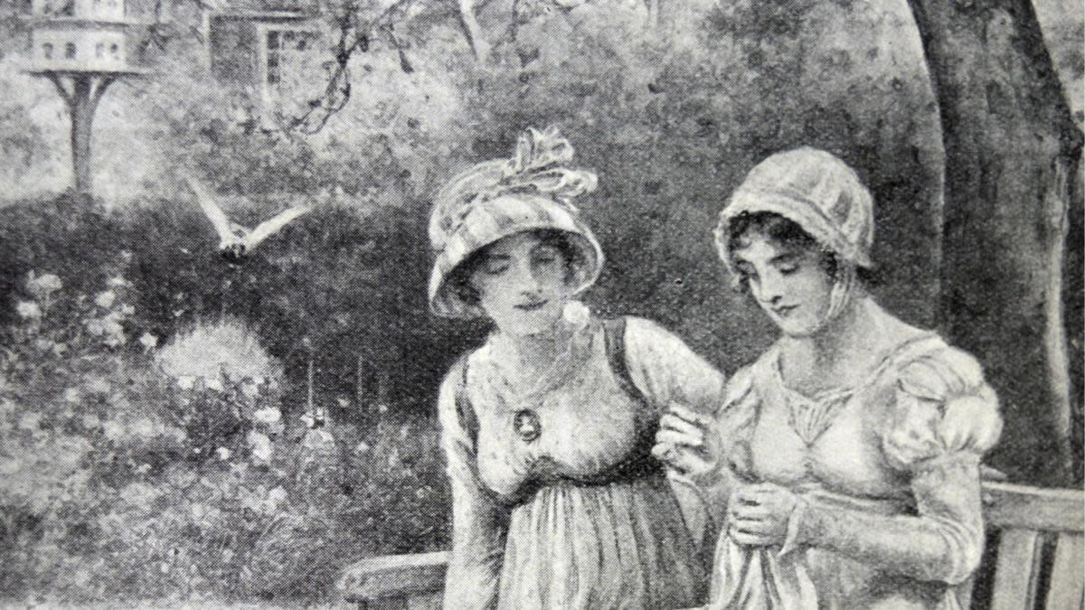 Jane Austen and her sister Cassandra, 1810. (Credit: Universal History Archive/UIG via Getty Images)