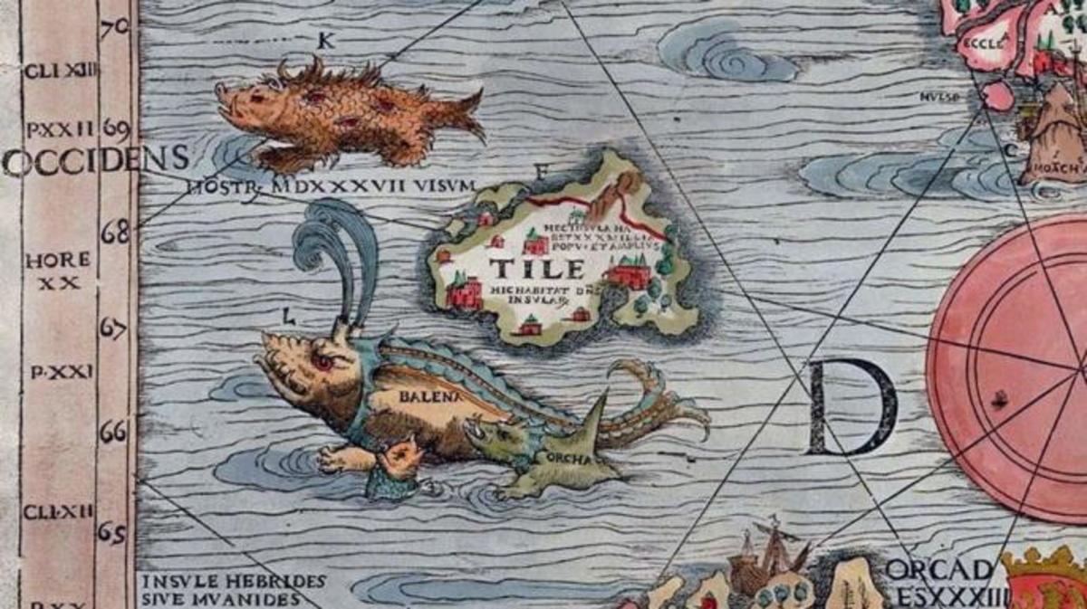 Thule on a map from 1539