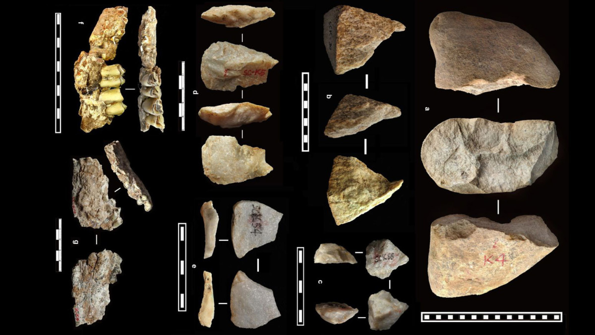 The oldest artifacts discovered at the Loess Plateau in China. (Credit: Zhaoyu Zhu/Nature International Journal of Science)