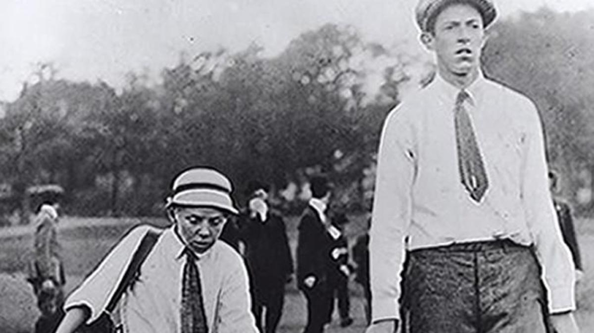 Francis Ouiment and caddy Eddie Lowery at the 1913 U.S. Open.