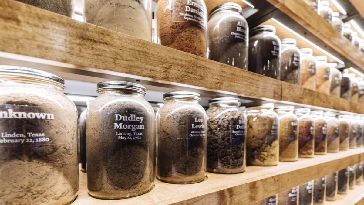 Jars of Soil at the Legacy Museum