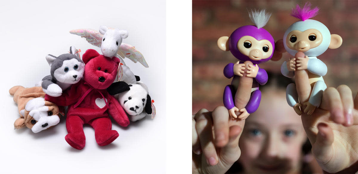 Beanie Babies and WowWee's Fingerlings