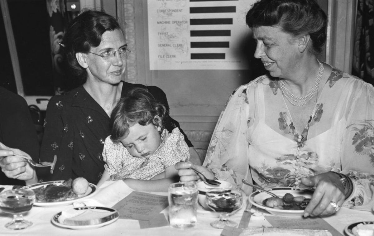 Eleanor Roosevelt subsidized dinner party