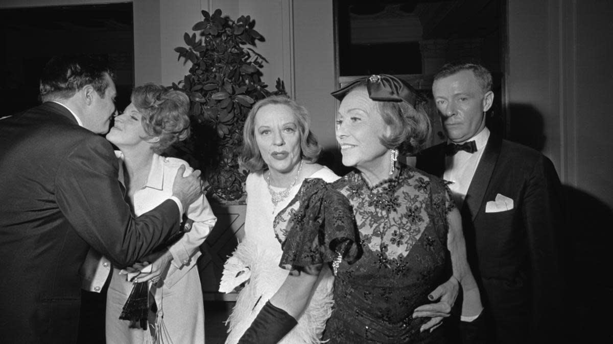 American actress Tallulah Bankhead and others at Truman Capote's Black and White Ball. (Credit: Harry Benson/Daily Express/Hulton Archive/Getty Images)
