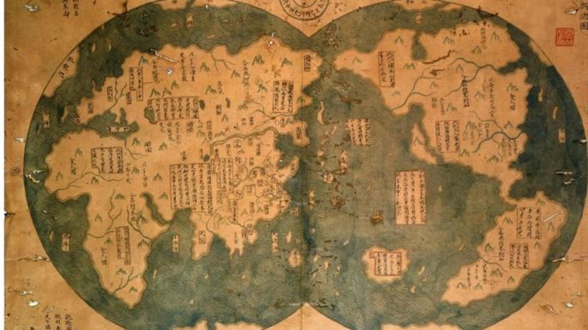 Zheng He's 1418 map of the world