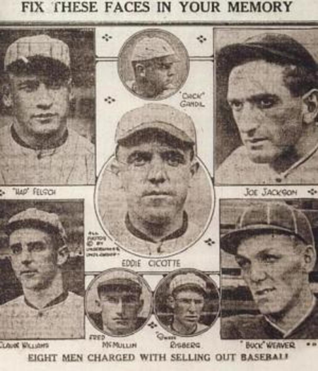 The eight White Sox players implicated in the scandal