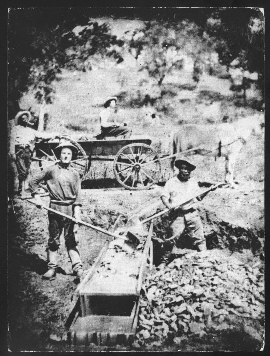 Slaves working in California Gold Mines, 1852. (Credit: Photo12/UIG/Getty Images)