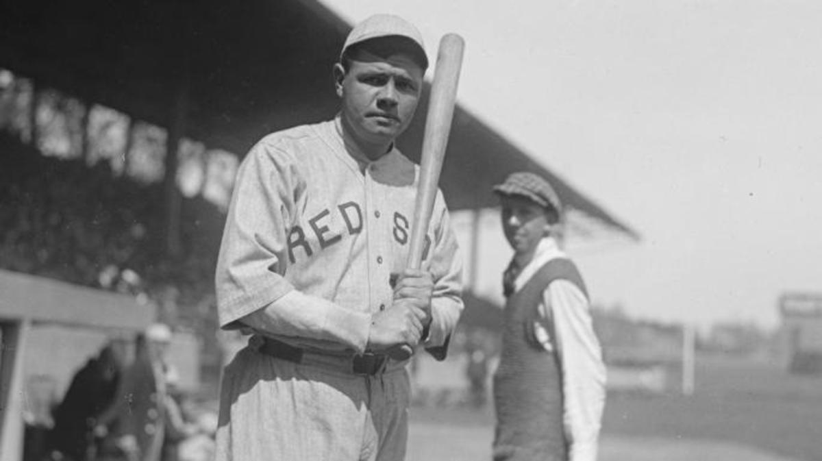 Babe Ruth as a Red Sox in 1919